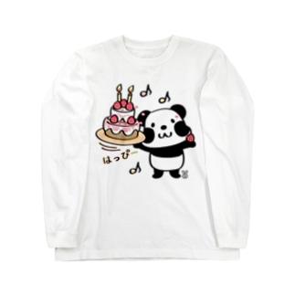 kyu13ズレぱんだちゃんのはっぴー Long sleeve T-shirts