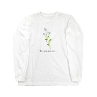 ワスレナグサ Long sleeve T-shirts