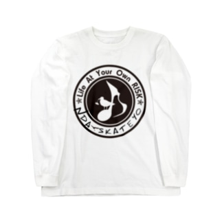 Ndaskateyo×RISK logo Long sleeve T-shirts