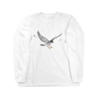 隼ファルコン【まめるりはことり】 Long sleeve T-shirts