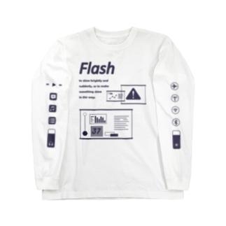 FLASH LONG T WH Long sleeve T-shirts