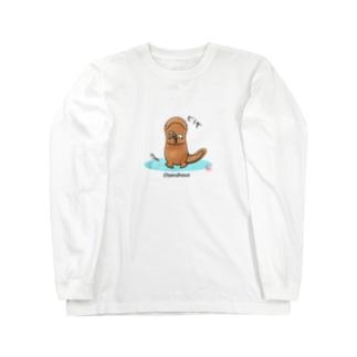 どうぞ(オオサンショウウオ) Long sleeve T-shirts