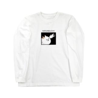 DECORの寸胴猫 ながぶち 気づきver. Long sleeve T-shirts