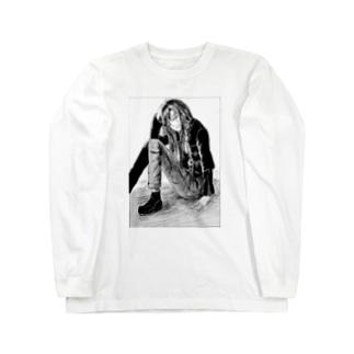 ライダースーツの女の子 Long sleeve T-shirts