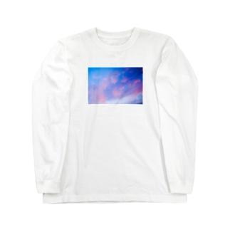 濃いむらさきの雲 Long sleeve T-shirts