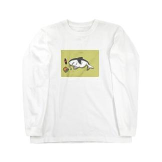 ダイエット失敗サメ Long sleeve T-shirts