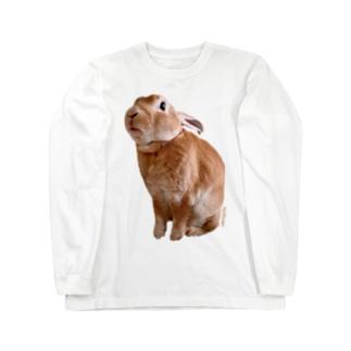 つぶあん大きめプリントT Long sleeve T-shirts