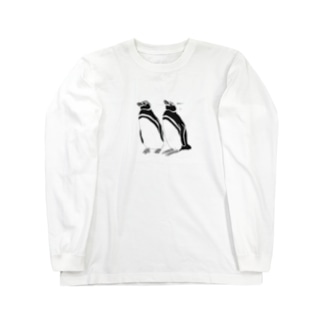 仲良しペンギン Long sleeve T-shirts