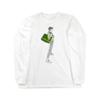 """Green"" いけめんファッショニスタ Long sleeve T-shirts"