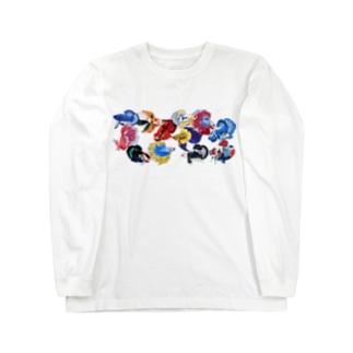 ベタたち Long sleeve T-shirts