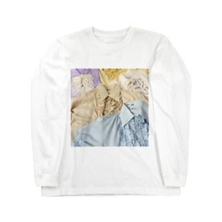 70sfrillblouseprint Long sleeve T-shirts
