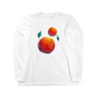 親子りんご 親 Long sleeve T-shirts