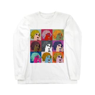 ウノリン モンロー Long sleeve T-shirts