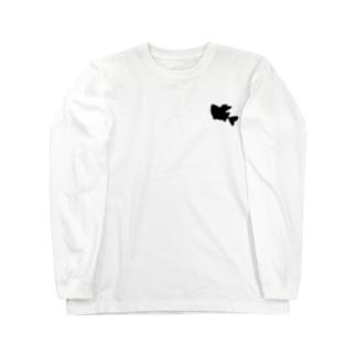オニボラちゃん(シルエット) Long sleeve T-shirts