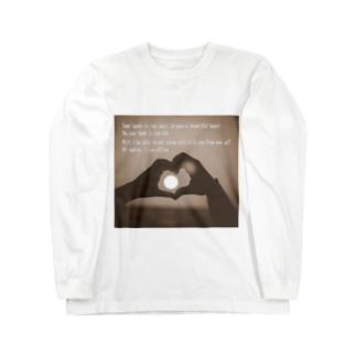 ハートのかたち Long sleeve T-shirts