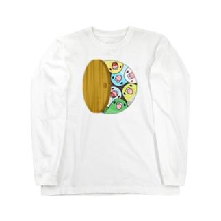 三密です!むちむちマメルリハさん【まめるりはことり】 Long sleeve T-shirts