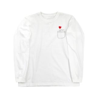 ポケットからキュン Long sleeve T-shirts