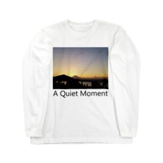 夕焼けどきの富士山 長袖Tシャツ Long sleeve T-shirts