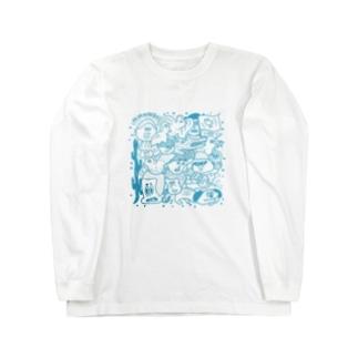みたらし団子と富士 Long sleeve T-shirts