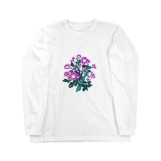 花 ミヤコワスレ Long sleeve T-shirts