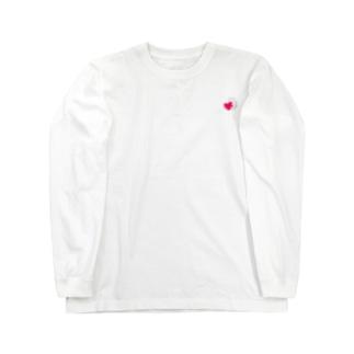 ハートにつかまる猫(ミニ) Long sleeve T-shirts