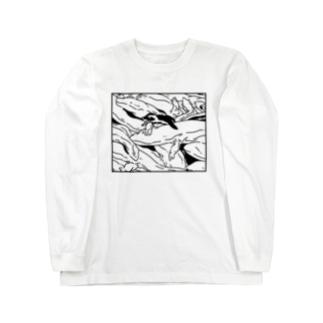ぎゅうぎゅうオオサンショウウオ Long sleeve T-shirts