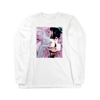 バックプリントなしエーメン Long sleeve T-shirts