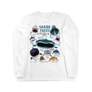 サメカオlightcolor長袖 Long sleeve T-shirts