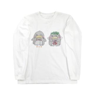 ペン号泣ウエディング🐧ペンギン Long sleeve T-shirts