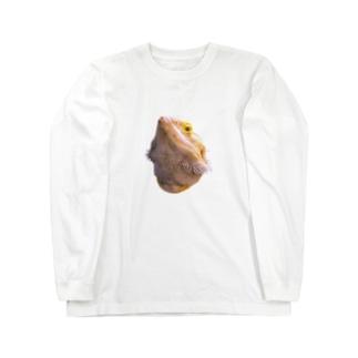 フトアゴヒゲトカゲ Long sleeve T-shirts