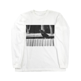 Ngorongoro*Pixelのcrow's monochrome(α Long Sleeve T-Shirt