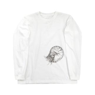 オウムガイ Long sleeve T-shirts