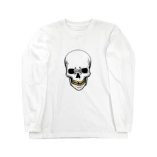 スカル【金歯】 Long sleeve T-shirts