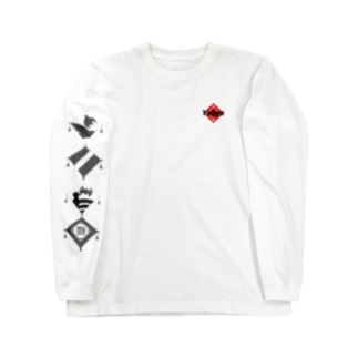 よいや(黒猫 凧) Long sleeve T-shirts