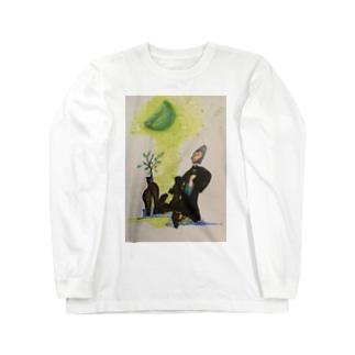 ガジュマル女 Isn't it awesome? Long sleeve T-shirts