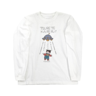 UFOと女の子(色付) Long sleeve T-shirts