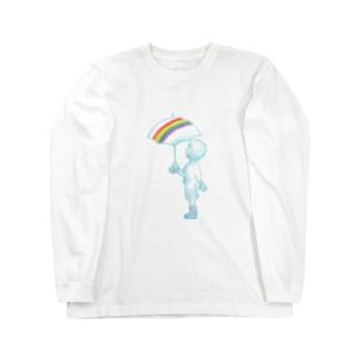 花信風のお店の切り取られた空 Long sleeve T-shirts