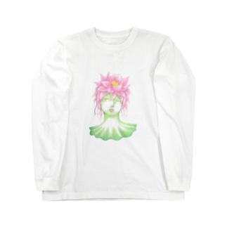 花信風のお店の蓮の精 Long sleeve T-shirts