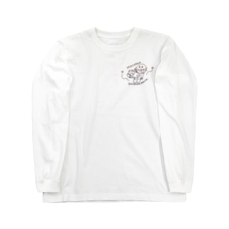 マカロンおひるねまち Long sleeve T-shirts