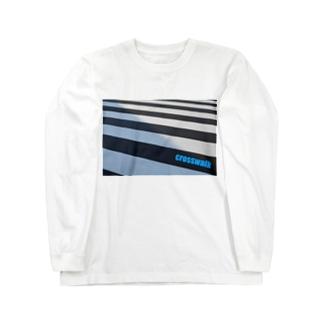 横断歩道 Long sleeve T-shirts