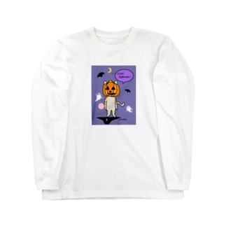 猫 茶トラ ハロウィーン Long sleeve T-shirts