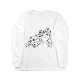 桜と女の子 Long sleeve T-shirts