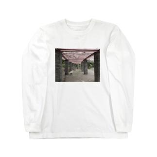 がらんとベンチ Long sleeve T-shirts