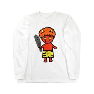 オニ Long sleeve T-shirts