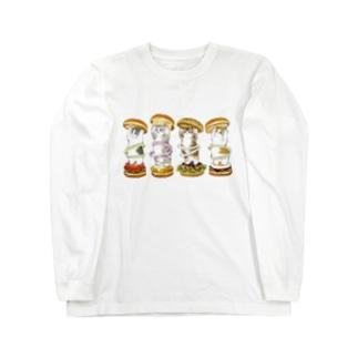 にゃんこバーガー Long sleeve T-shirts