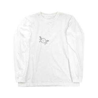 モノクロウーパー Long sleeve T-shirts