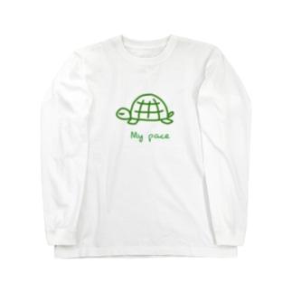 PaP➡︎Poco.a.Pocoの亀ちゃん Long sleeve T-shirts