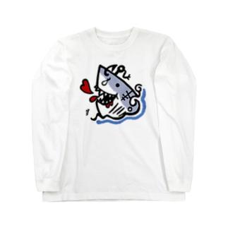 ホオジロー(ガブ) Long sleeve T-shirts