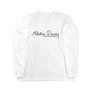 Milestone Brewingシンプルロゴトップス Long sleeve T-shirts