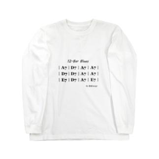 ブルース Blues in the Key of A (in Black Letters) Long sleeve T-shirts